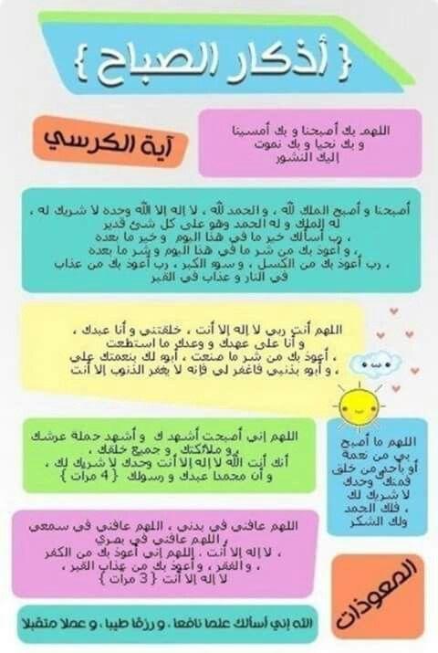 ازكار الصباح Islamic Inspirational Quotes Islam Facts Islamic Phrases