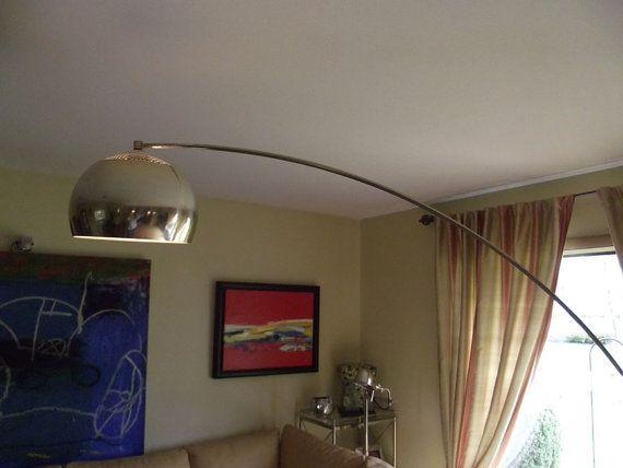 vintage brass arc floor lamp | furniture/home accessories ...