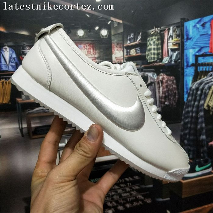 huge selection of 34d49 ffdba 2018 New Release Nike Classic Cortez 72 SP Leather Womens Trainers White On  Sale