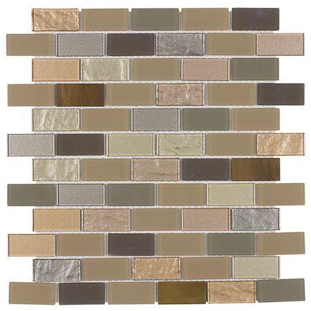 Peel Stick Glass Mosaic Tile Venice Mineral Tiles Metal Mosaic Tiles Metallic Wall Tiles Mosaic Wall Tiles