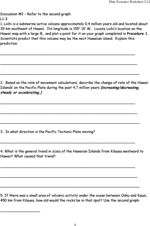 Plate Tectonics Worksheet 6th Grade Misp Plate Tectonics Worksheet 2 L2 Pdf Free Do In 2020 First Grade Math Worksheets Plate Tectonics Third Grade Geometry Worksheets