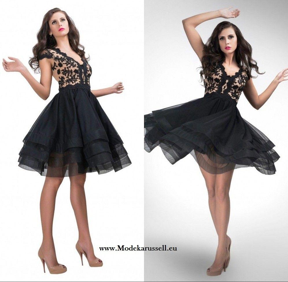 Schwarzes Cocktailkleid mit Spitze | Schwarze Kleider | Traumhafte ...