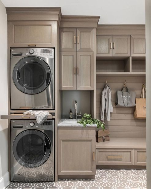 Awesome grey laundry room design for small spaces ideas -  Awesome grey laundry room design for small spaces ideas  - #Awesome #Design #Grey #Ideas #Laundry #laundryroom #Room #Small #Spaces