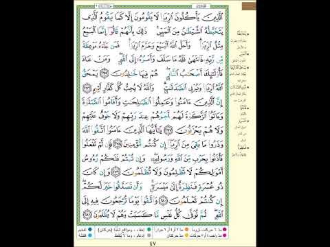 الصفحة 47 من المصحف الشريف سورة البقرة مشروع حفظ القرآن الكريم Youtube Youtube Songs Make It Yourself