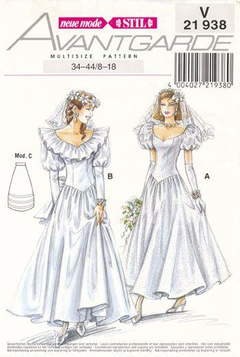 Neuemode SewingPatterns Bridal  Wedding gown patterns, Gown