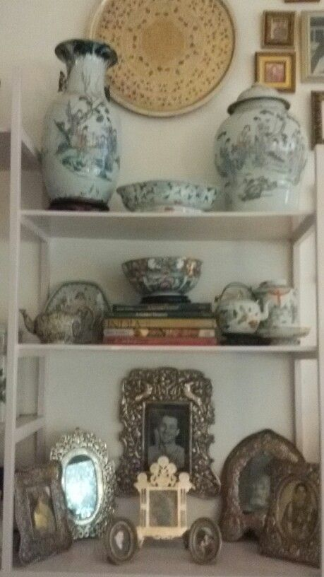 Family silver and Chinese porcelain.