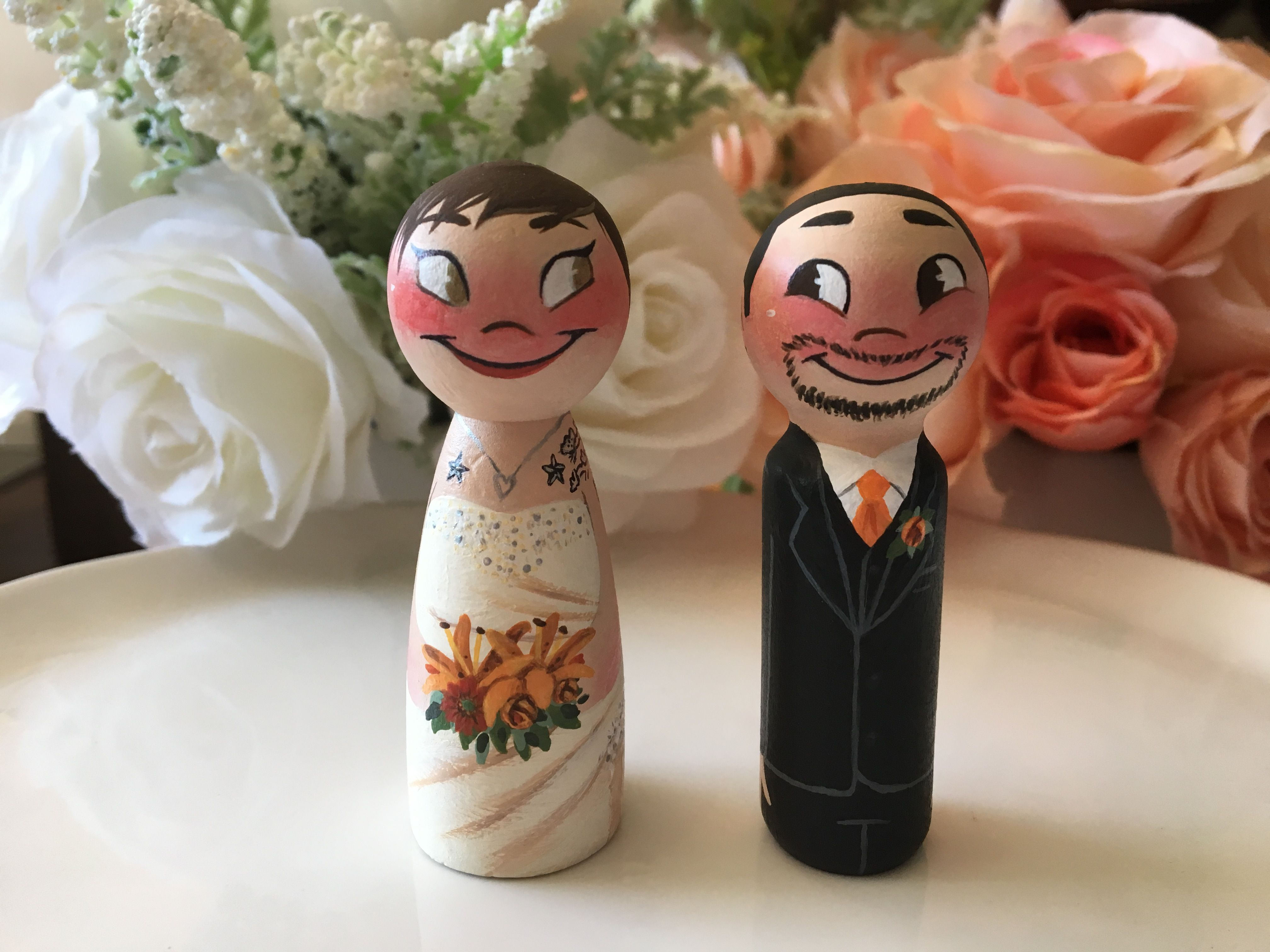 Beautiful tattooed bride and happy groom order your today