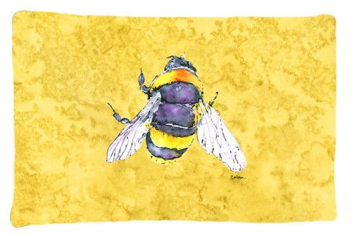Bee on Yellow Moisture wicking Fabric standard pillowcase