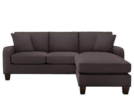 Cindy Crawford Bailey Microfiber Chaise Sofa