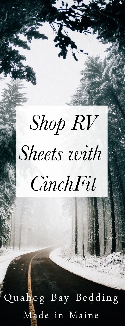 Our CinchFit RV Sheets will fit snug to any oddly shaped