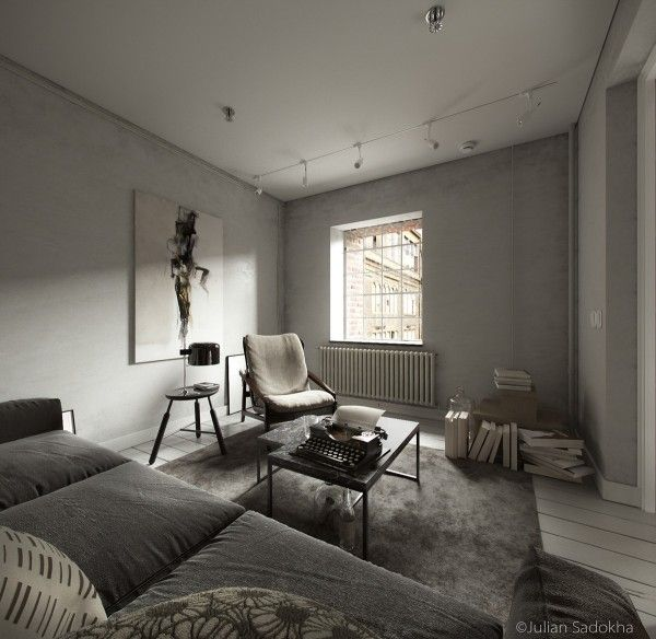 Cool Grey Living Rooms: A Cool Grey Interior For A Free Spirit