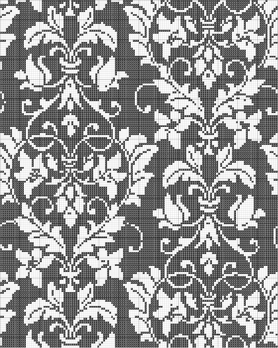 Photo of Damask Cross Stitch Pattern