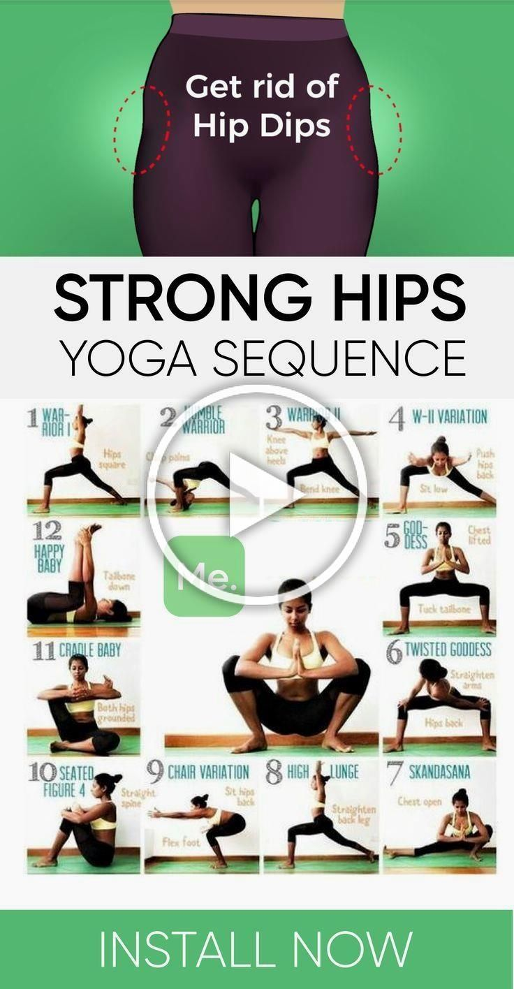 Strong Hips Yoga Sequence #health #fitness #workout #exercise #yoga #motivation
