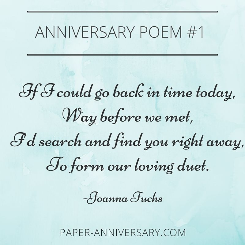 Ridiculously Romantic Anniversary Poems For Her  Anniversary