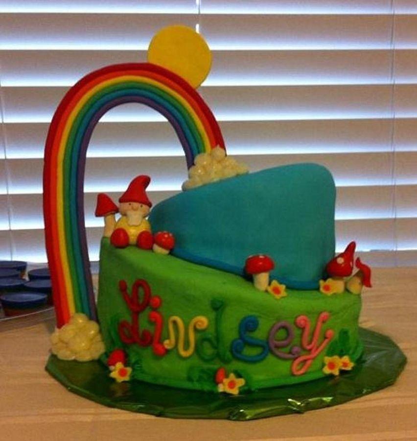 Happy gnome fondant rainbow rainbow cake cupcake cakes