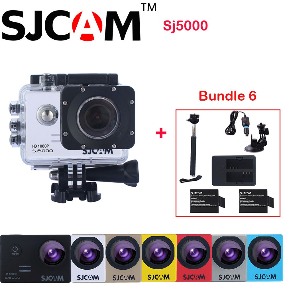 $171.99 (Buy here: http://appdeal.ru/dx4c ) Original SJCAM SJ5000 Waterproof Sports Action Camera Sj 5000 Cam DV + 2 Battery+Dual Charger +Selfie Stick+Car Charger+Sucker for just $171.99