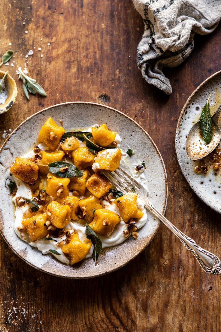 Pumpkin Cauliflower Gnocchi with Nutty Browned Butter and Whipped Ricotta
