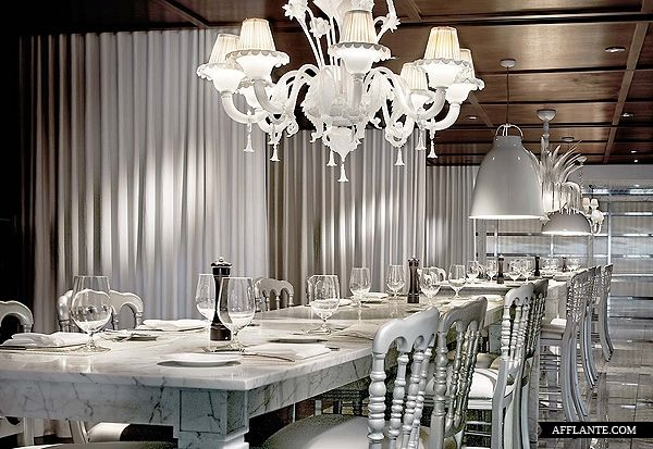 Marble Dining Table at Hotel South Beach was designed by Philippe Starck