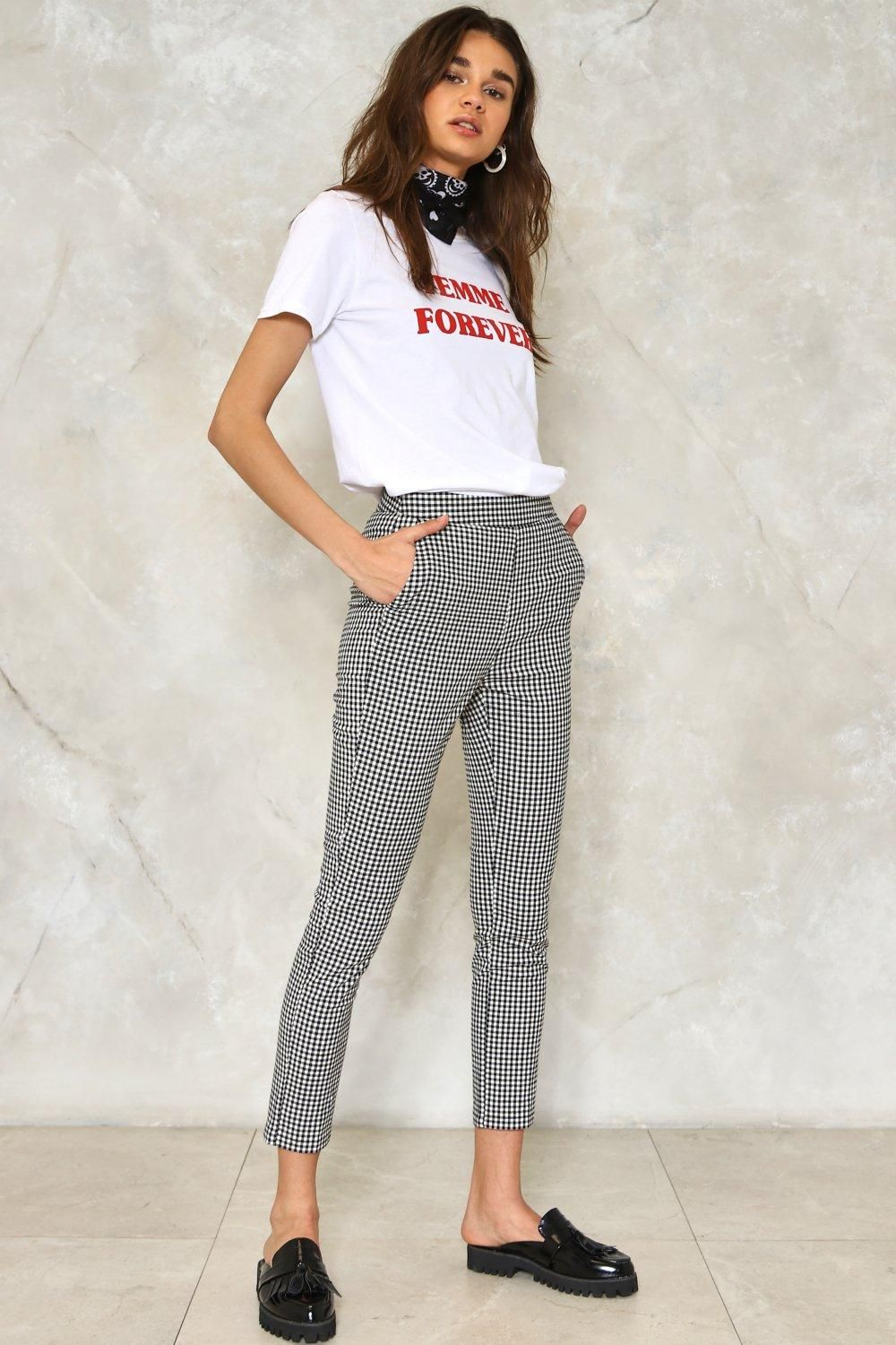 And square. The Make It Fair Pants come in gingham and feature a ... 062fabb7b2d41