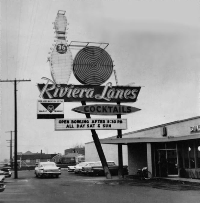 Riviera Lanes Bowling Alley Melrose Park Melrose Park Chicago Street Chicago Illinois