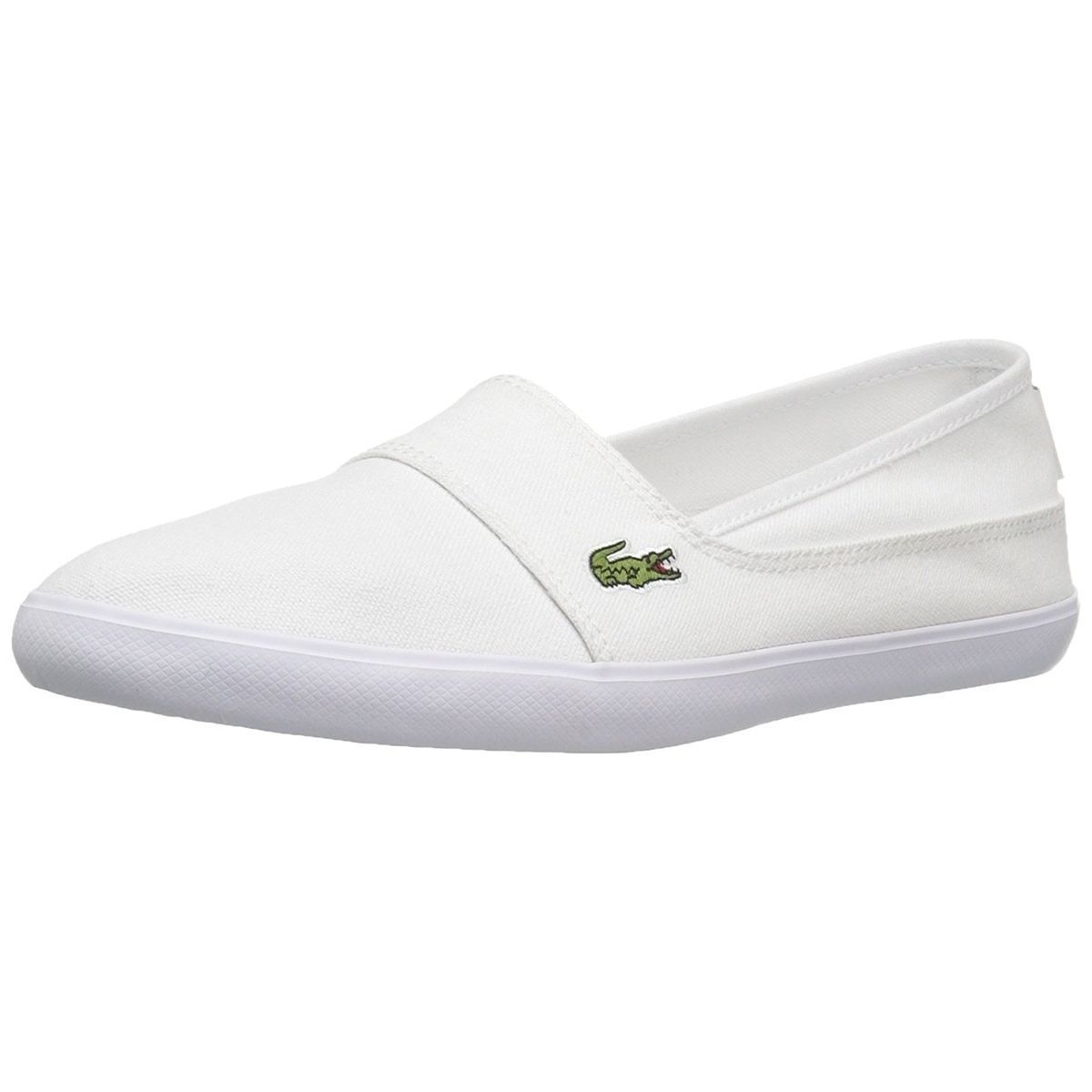 Lacoste Women NEW Marice Series Canvas Fashion Sneakers Slip On Flats Shoes
