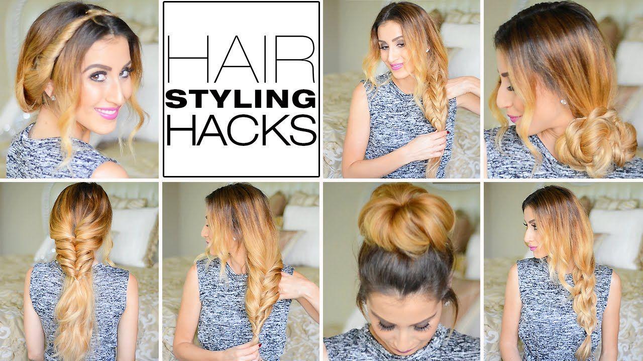 7 Genius Hair Styling Hacks Every Girl Needs To Know Youtube Hair Hacks Cool Hairstyles Hair Styles