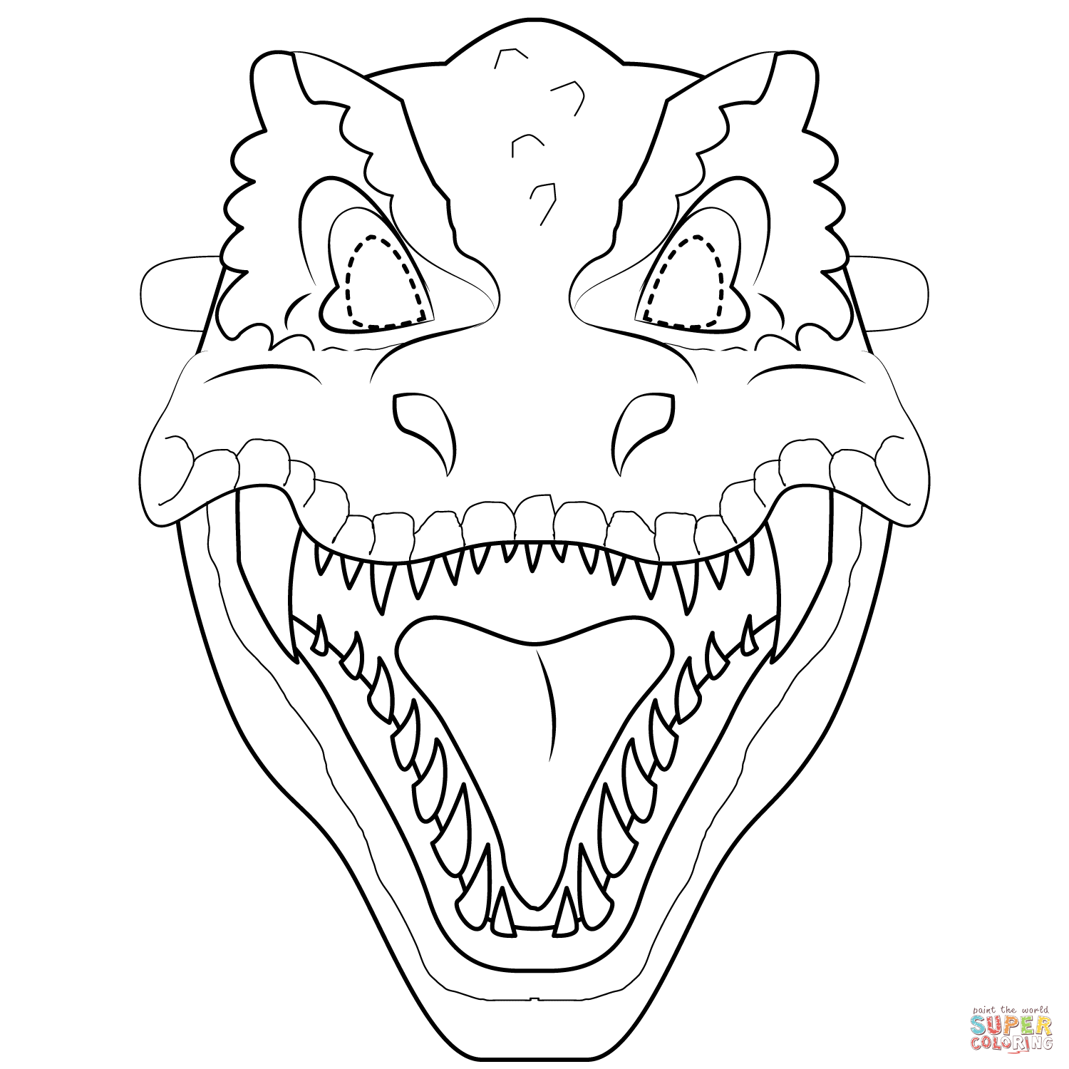 Dinosaur Coloring Pages Template Amazing Design