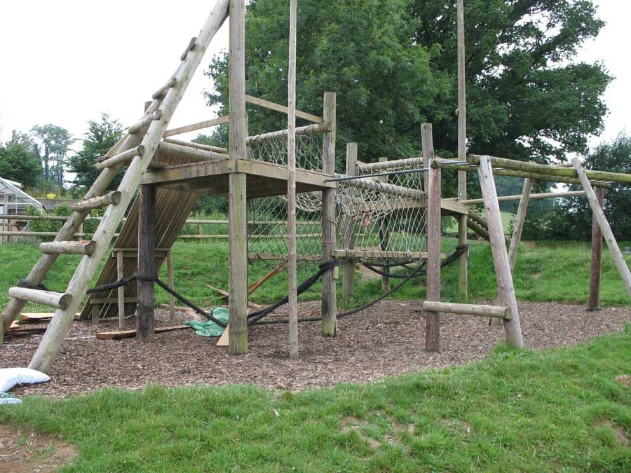 Climbing Frames for 11-16 year olds at steiner school. site has ...