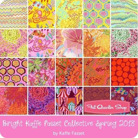 Bright Spring 2018 Design Roll<br/>Kaffe Fassett Collective for Free Spirit Fabrics