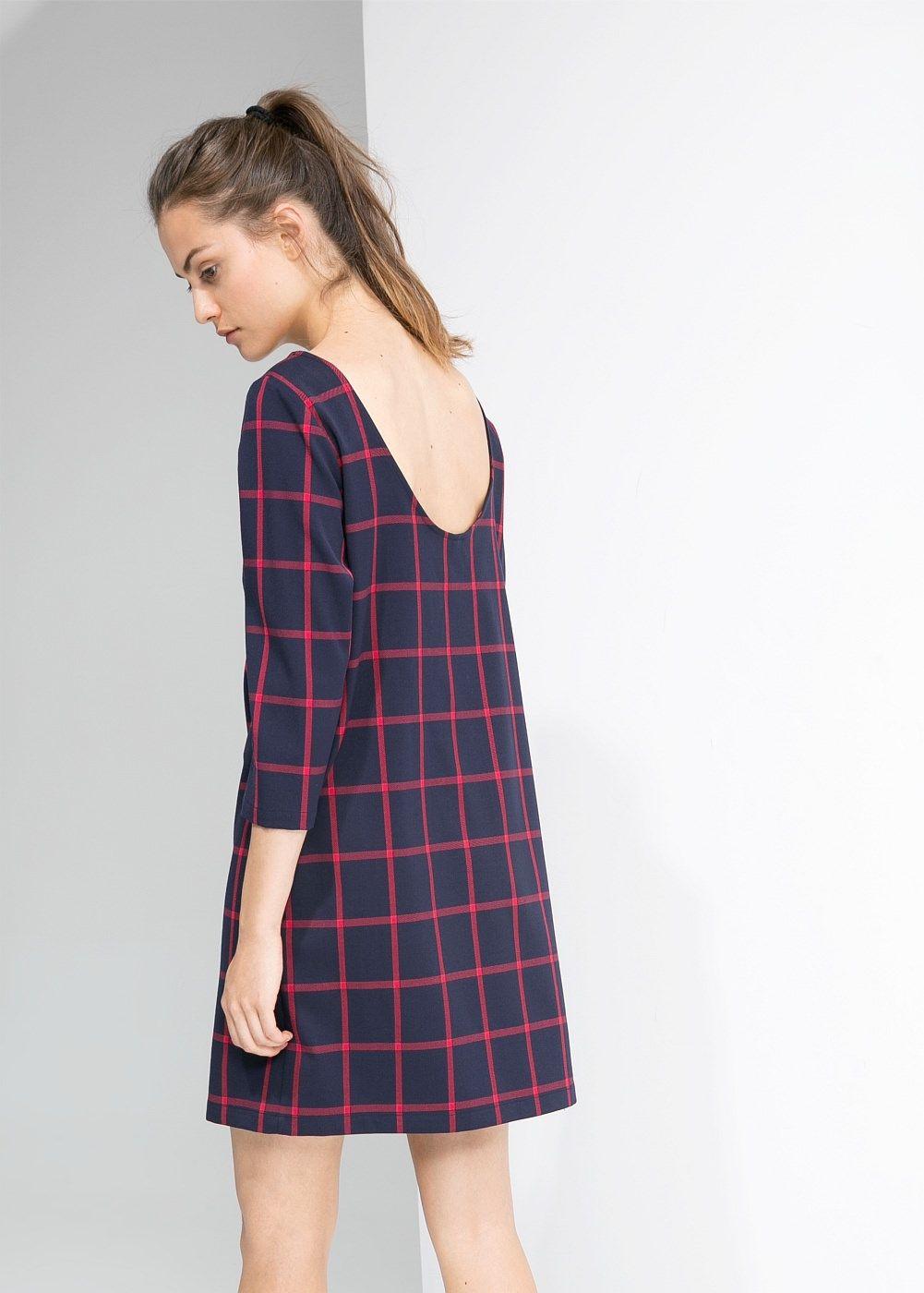 Vestido recto cuadros - Mujer | Vestido recto, Cuadro y Vestiditos