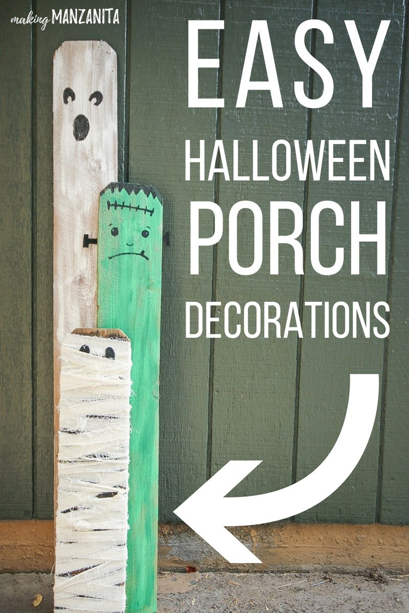 Cheap Halloween Porch Decorations with Recycled Materials - cute homemade halloween decorations