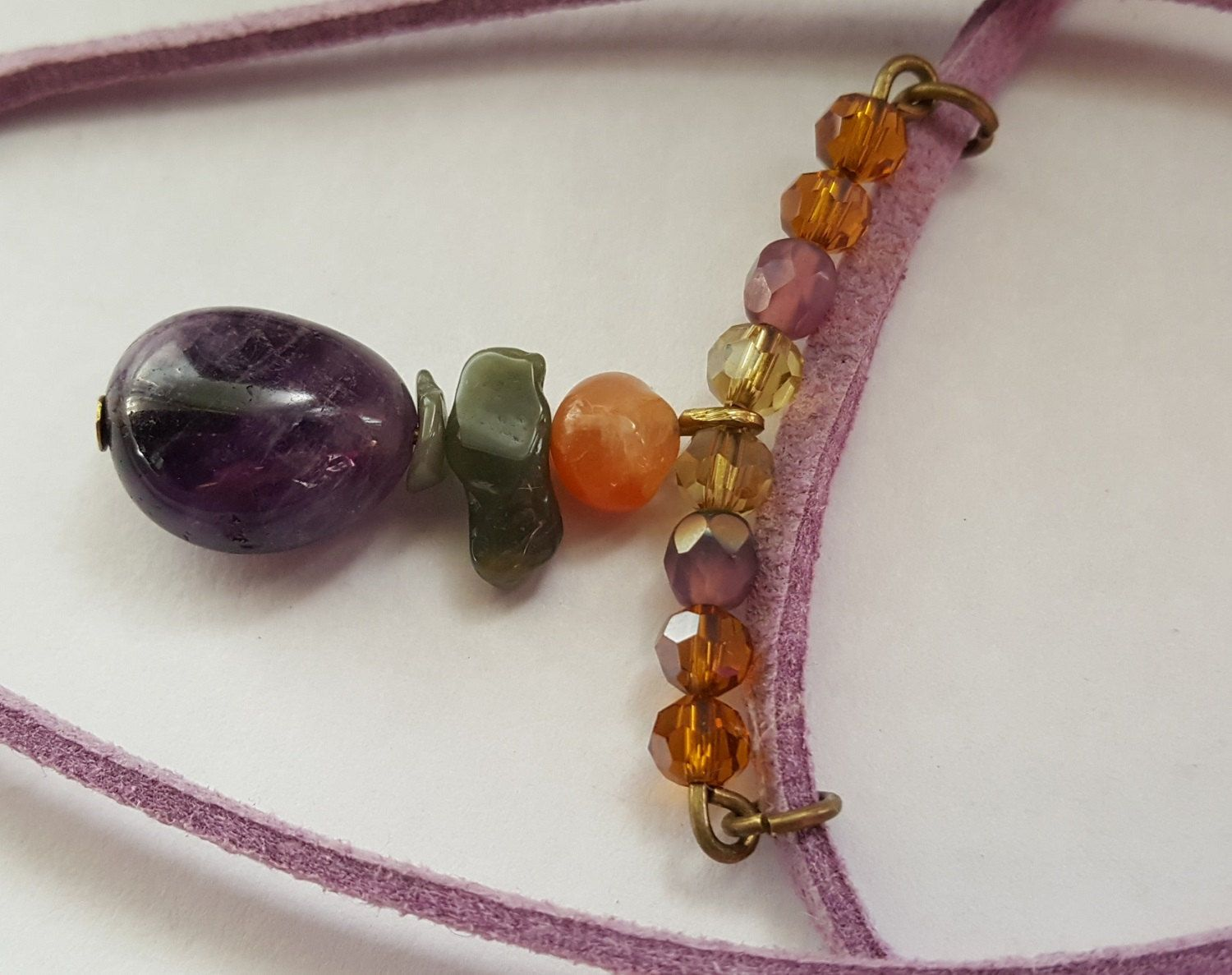 Amethyst Stone Necklace - Birthday, Anniversary, Christmas, Mother's Day…