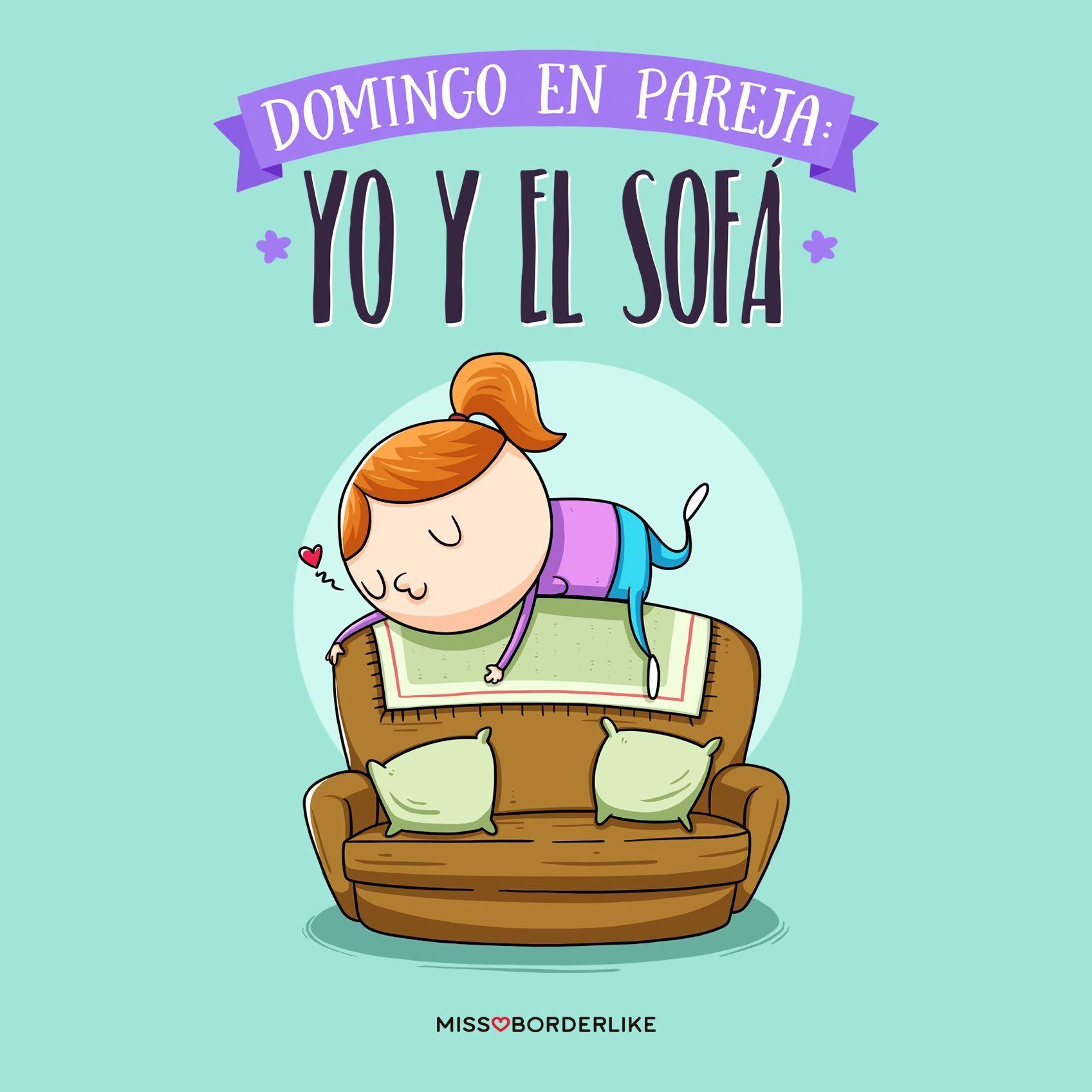 Domingo En Pareja Yo Y El Sofá Frases Humor Divertida