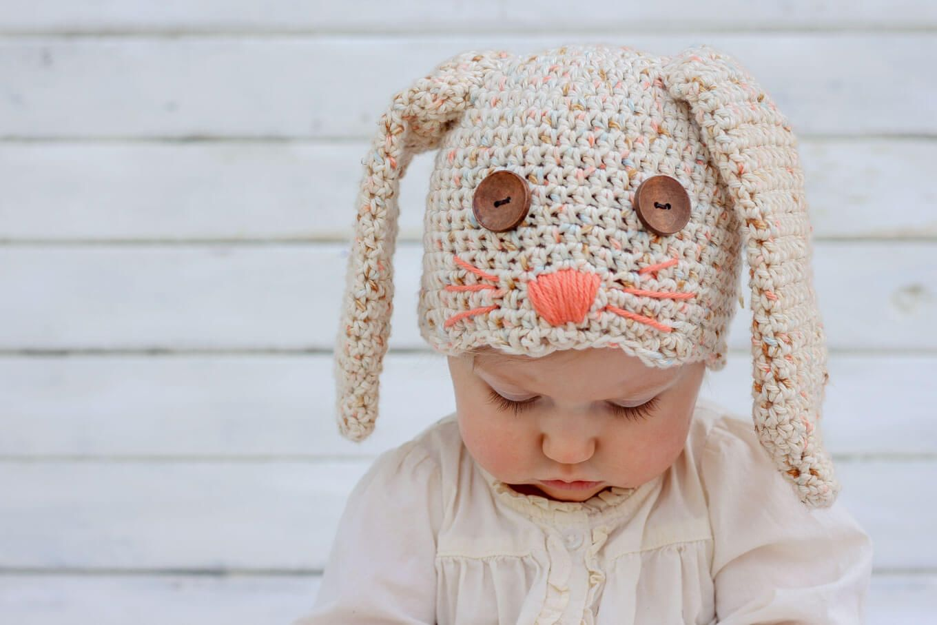 Free Crochet Bunny Hat Pattern (Newborn-Toddler) | Tejido