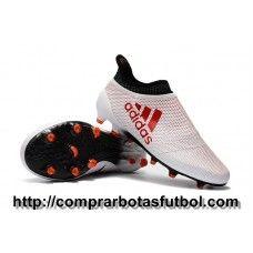 best service ecae8 56902 Clasicas Botas De Futbol Adidas X 17+ Purespeed FG Blanco Rojo