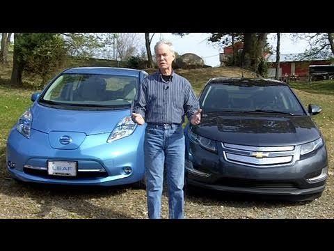 Chevy Volt Vs Nissan Leaf Youtube Nissan Leaf Nissan