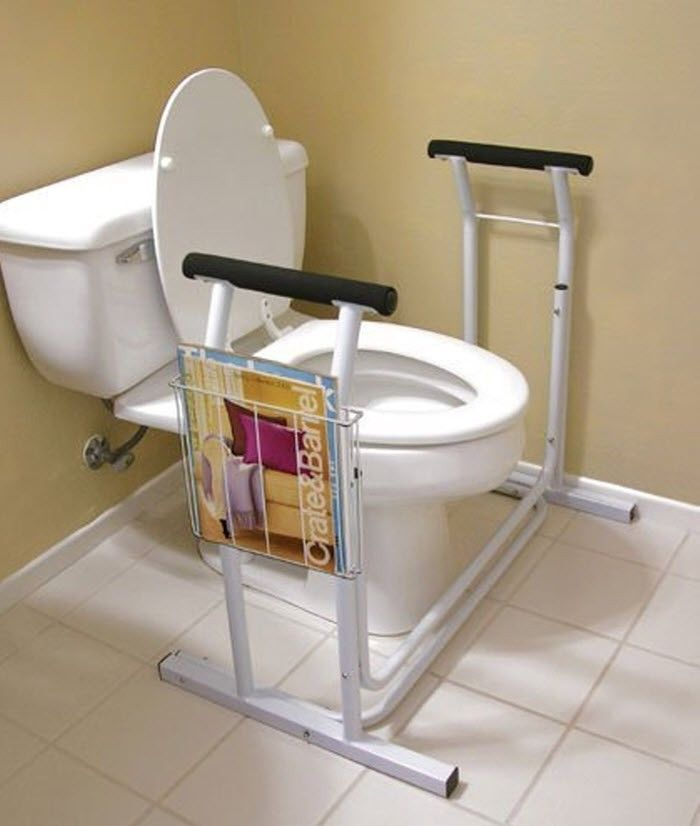 Toilet Seat Safety Rail Grab Bar Elderly Support Handicap Disability Bathroom
