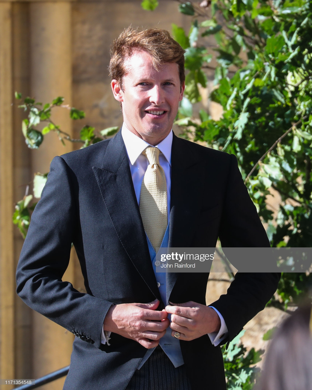 James Blunt Seen At The Wedding Of Ellie Goulding And