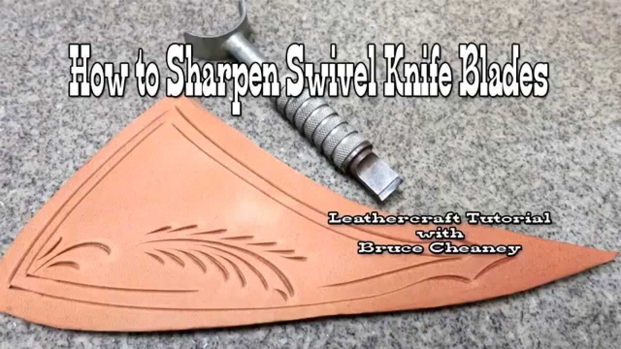 How to sharpen a swivel knife using a wet stone or