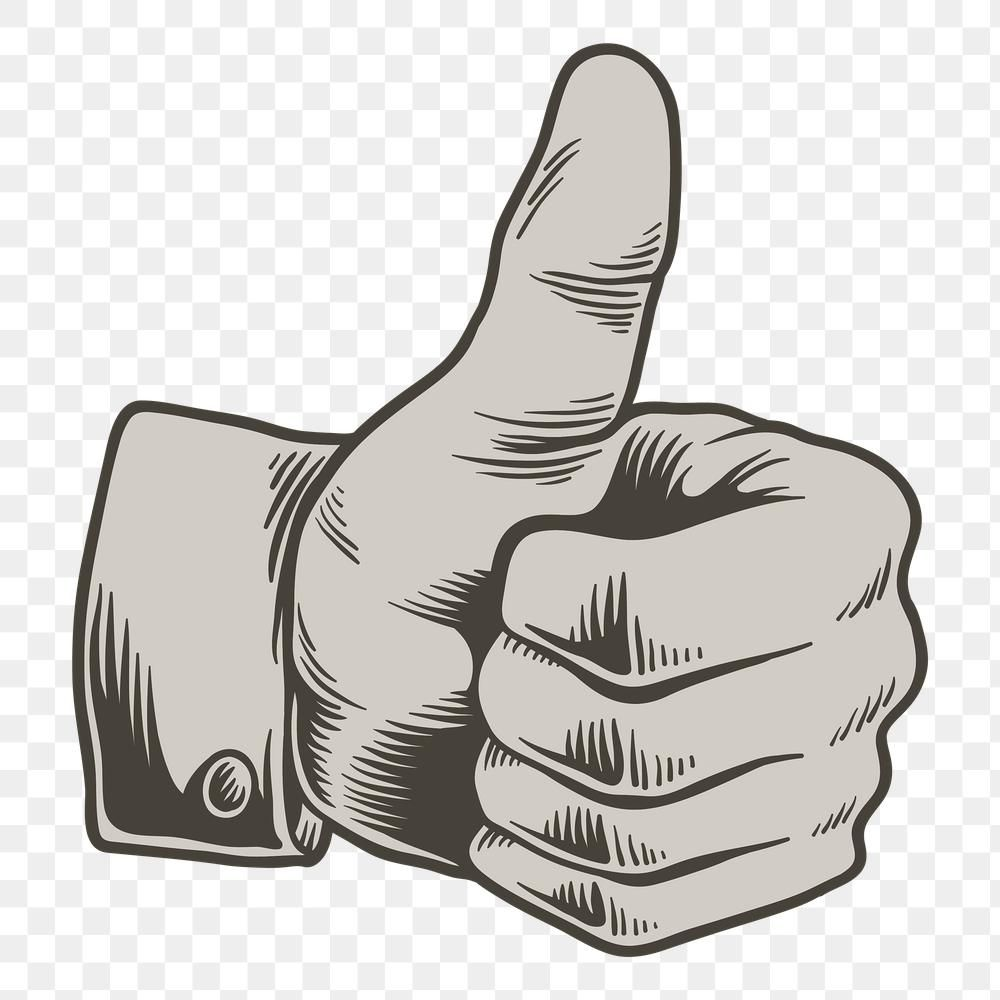 Gray Thumbs Up Sticker Design Element Free Image By Rawpixel Com Tvzsu Sticker Design Design Element Free Illustrations