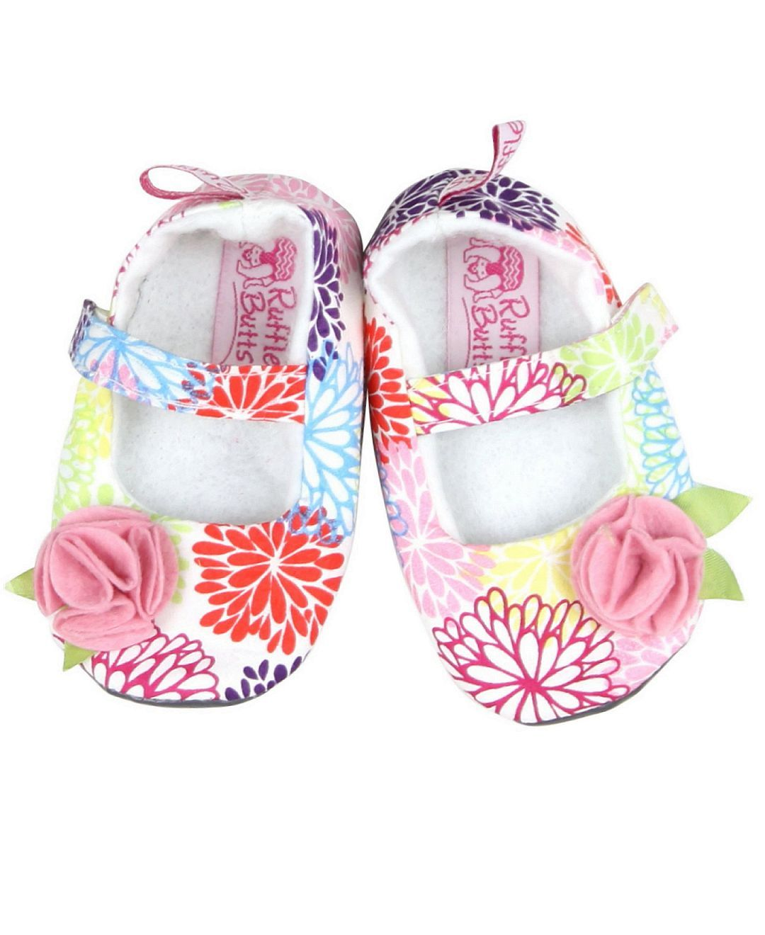 Super soft and sweet baby shoes are a great addition to your little one's RuffleButts Accessories Collection. Designed to mix-n-match with a multitude of items in the RuffleButts Apparel Collection, this the perfect addition to her ruffled ensemble.