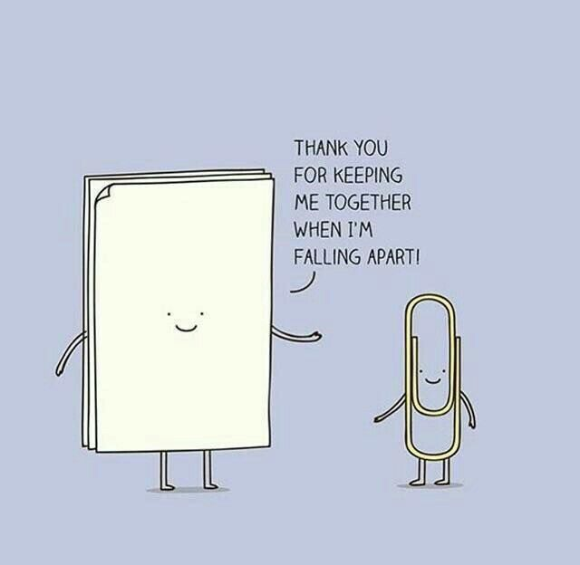 Latest Funny Puns Thank you for keeping me together when I'm falling apart. - Carola Thank you for keeping me together when I'm falling apart. - #falling #I39m #keeping 5