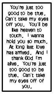 Frankie valli lyric quotes