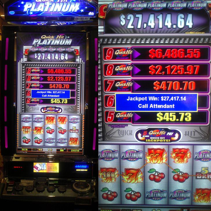 How are slot machine jackpots paid
