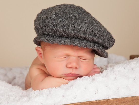 2ae44a7db Baby boy hat 16 colors Irish wool newsboy cap newborn photography ...