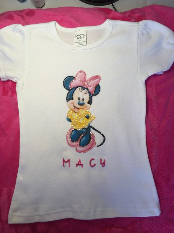 Personalized Minnie or Mickey painted toddler by MacyBellescloset