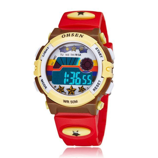 OHSEN Brand Children Sports Watches LED Digital Quartz Outdoor Waterproof AS16