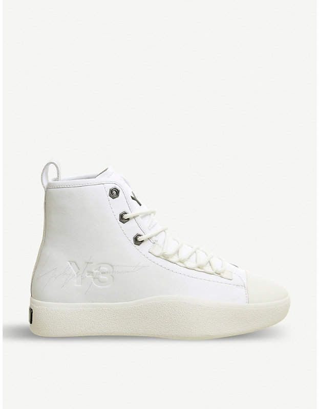 f09fcbca395c6 adidas Y3 Bashyo 2 leather high-top trainers