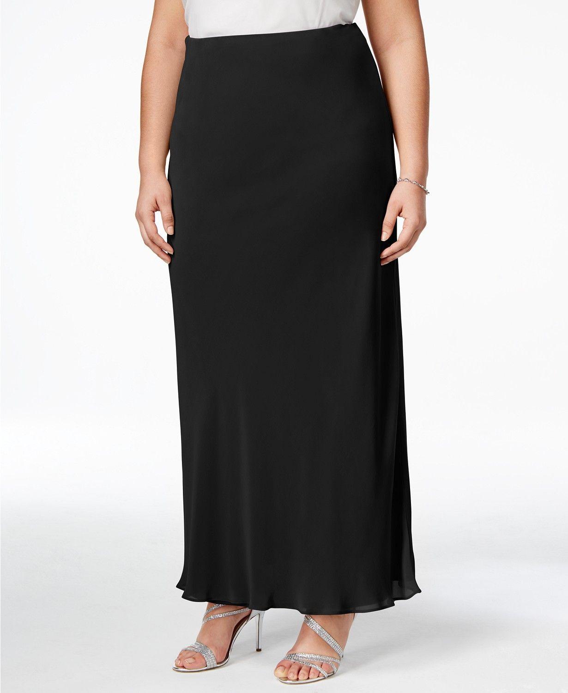 Alex Evenings Plus Size Evening Maxi Skirt & Reviews ...