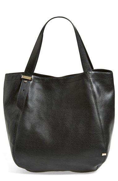 Women's SJP 'Bank' Leather Shopper - Black